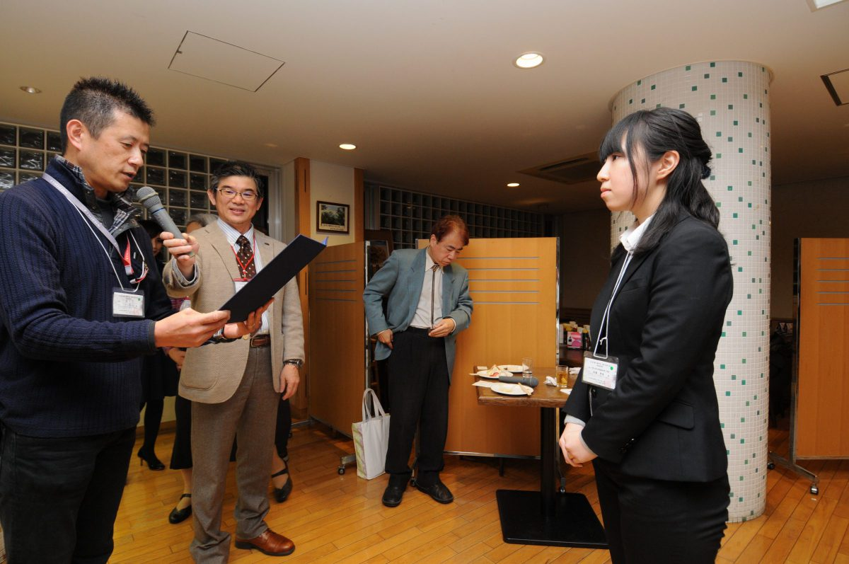 Miss Uchiumi received the Good Presentation Award at the 75th congress of JSPA